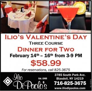 Ilio's Valentine's Day