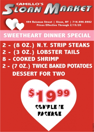 Sweetheart Dinner Special
