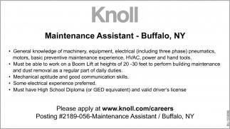 Maintenance Assistant