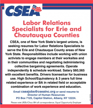 Labor Relations Specialists