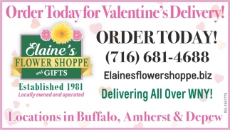 Order Today for Valentine's Delivery!