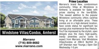 Windstone Villas/Condos, Amherst!