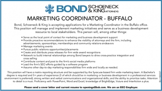 Marketing Coordinator in Buffalo