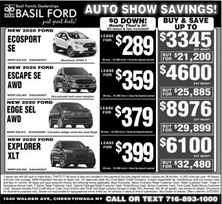 Auto Show Savings!