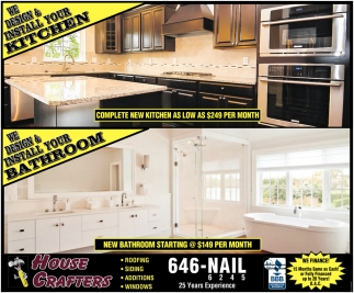 We Design & Install Your Kitchen or Your Bathroom