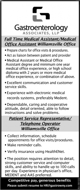 Full time Medical Assistant/ Medical Office Assistant
