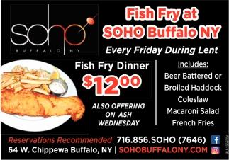Fish Fry Dinner!
