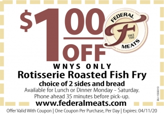 Rotisserie Roasted Fish Fry