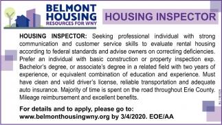 Housing Inspector