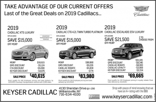 Last of the Great Deals on 2019 Cadillacs
