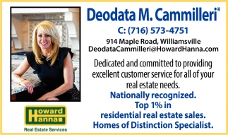 Top 1% in Residential Real Estate in WNY