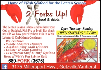 Home of Fresh Seafood for the Lenten Season