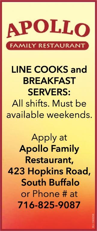 Line Cooks and Breakfast Servers