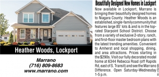 Beautifully Designed New Homes in Lockport