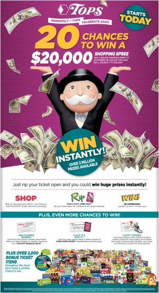 20 Chance to Win a $20,000 Shopping Spree