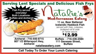 Serving Lent Specials and Delicious Fish Frys