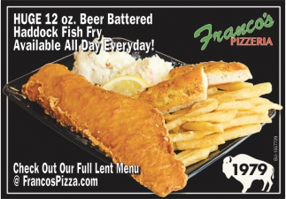 Check Out Our Full Lent Menu