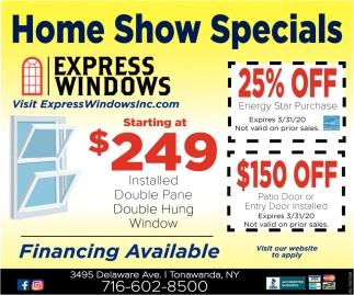Home Show Specials