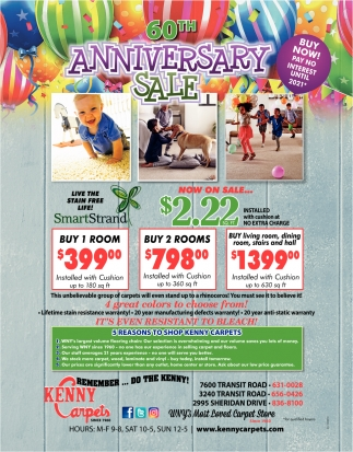 60th Anniversary Sale